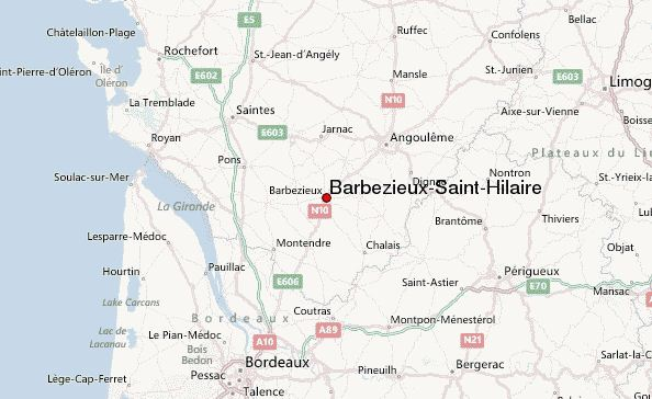 Barbezieux Saint Hilaire map