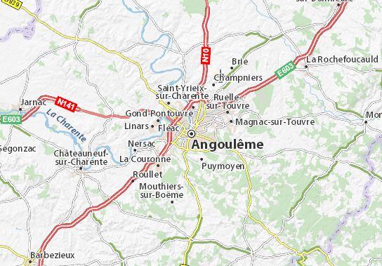 Angouleme France map