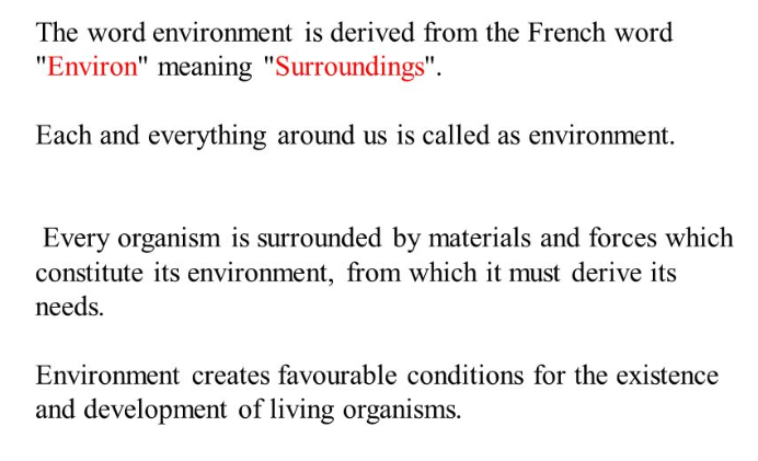The Word Environment Comes From An Old French Word Meaning