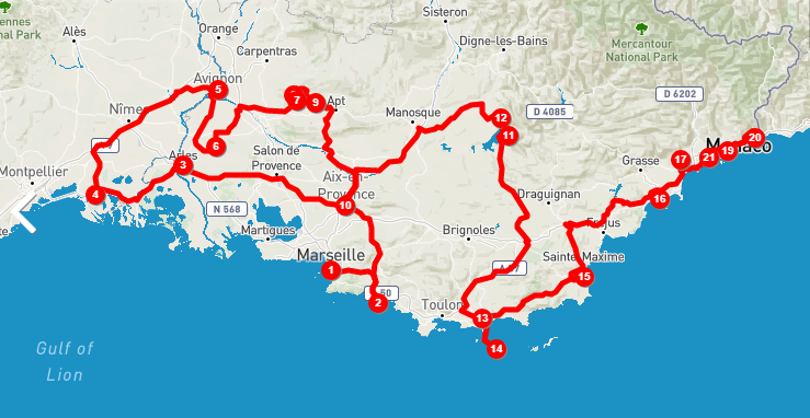South Of France Itinerary 10, 7 and 5 Days Road Trip